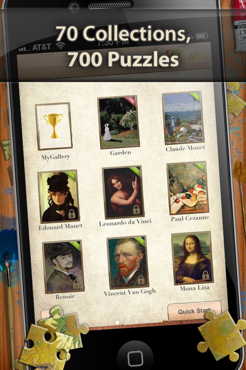 Henri Rousseau Jigsaw Puzzles  - Play with Paintings. Prominent Masterpieces to recognize and put together