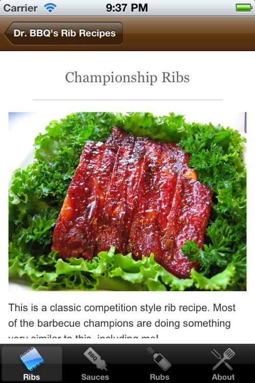 BBQ Ribs Recipes by Dr. BBQ screenshot-1