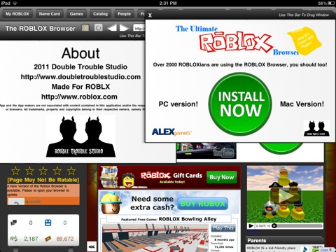 Скачать игру The Browser for ROBLOX