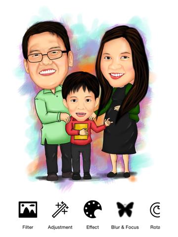 Tekening - allemaal in één foto effecten gekke koele beeld applicatie met Emojis en Emoticons iPad app afbeelding 1
