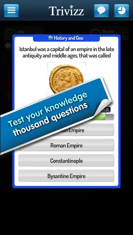 Trivizz - Trivial Quiz game for up to 6 players
