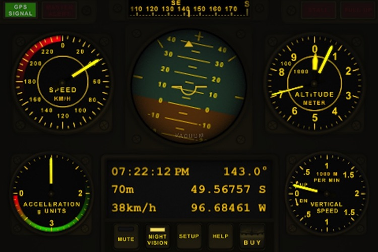 V-Cockpit GPS Lite - All in one (Compass, Altimeter, Speedometer, HUD, ...)