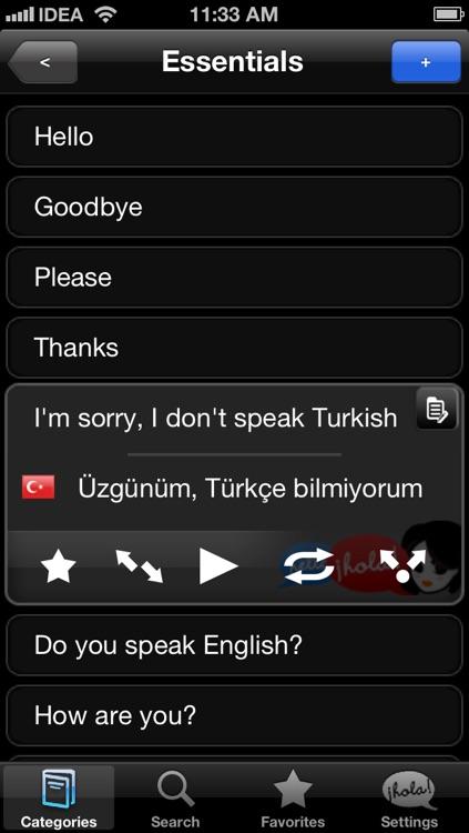 Lingopal Turkish LITE - talking phrasebook