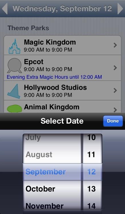 Walt Disney World Park Hours screenshot-3