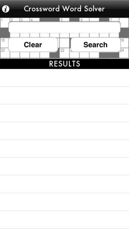 Crossword Word Solver screenshot-3