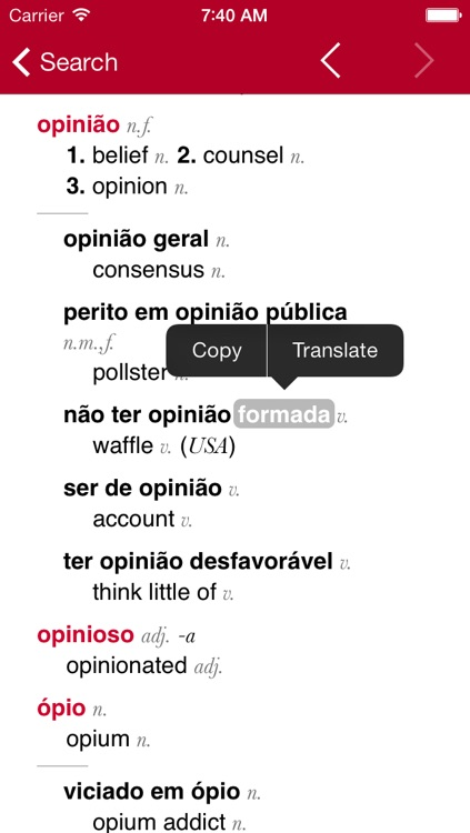 Portuguese-English Dictionary from Accio