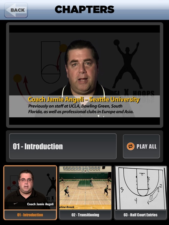 Princeton Continuity Offense: Using Backdoor Plays - With Coach Jamie Angeli - Full Court Basketball Training Instruction - XL