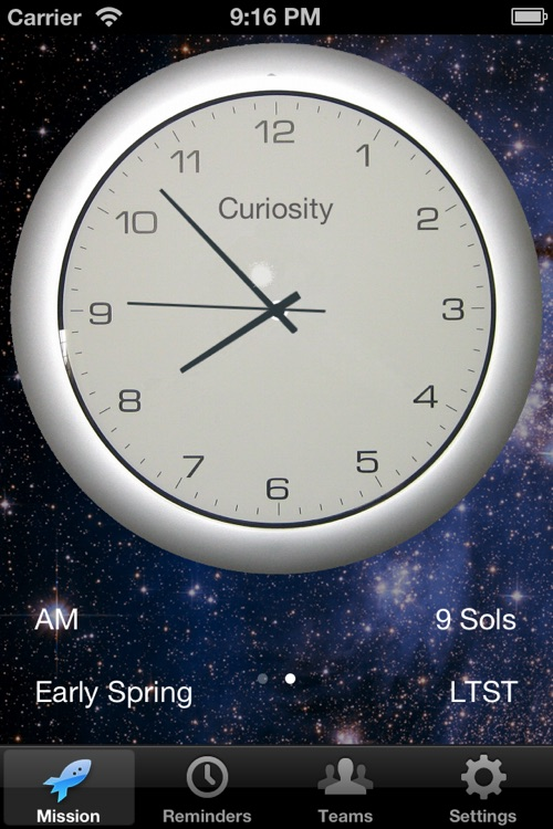 Mars Mission Clock