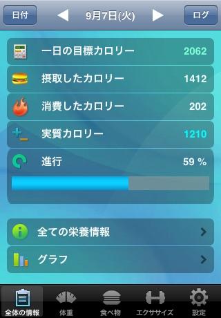 カロリーマスター (ダイエット管理) screenshot1