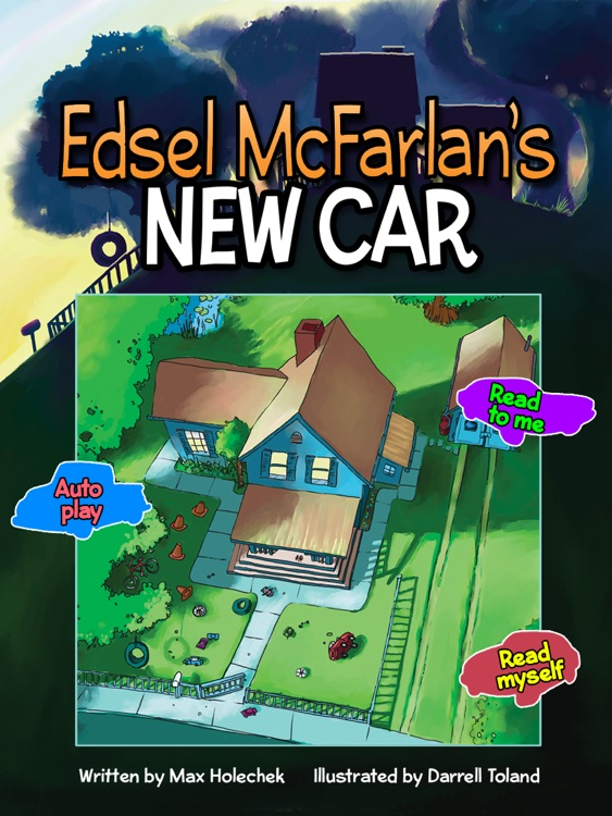 "Edsel McFarlan's New Car: a fun story for any car-obsessed kid  written by Max Holechek, illustrated by Darrell Toland (""Lite"" version, by Auryn Apps)"