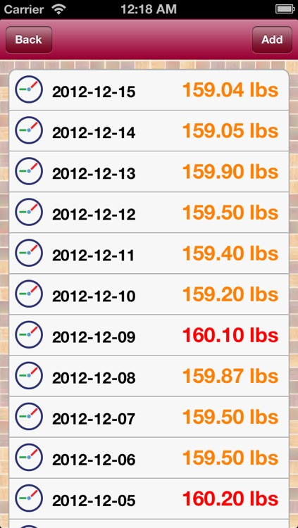 iBodyWeight(lbs) screenshot-2