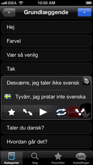 dansk svensk parlør