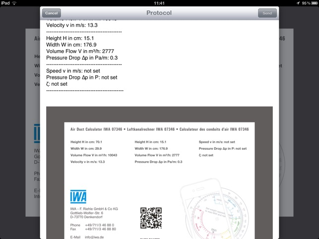 Air Duct Calculator IWA 42 006 on the App Store