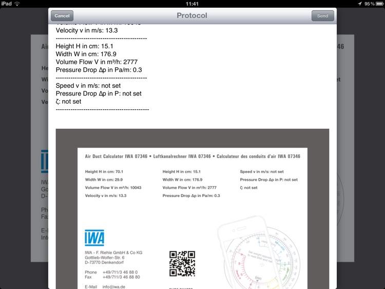Air Duct Calculator IWA 42 006 screenshot-4