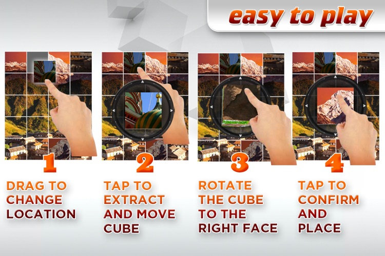 3D Cube Photo Puzzle screenshot-4