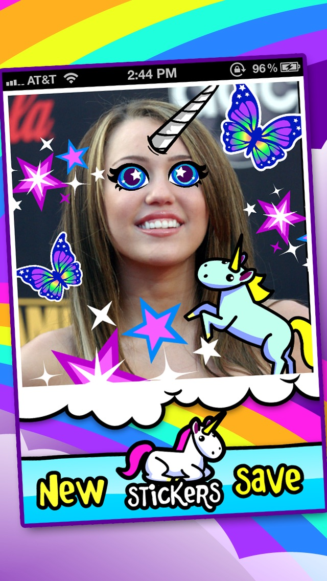 I'ma Unicorn - Amazing Glitter Rainbow Sticker Camera! Screenshot