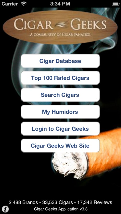 Cigar Geeks Application
