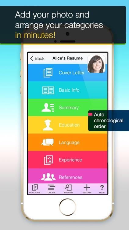 Resume Mobile Pro - design & share professional PDF resume on the go screenshot-3