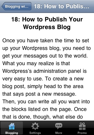 Blogging with Word Press screenshot-4