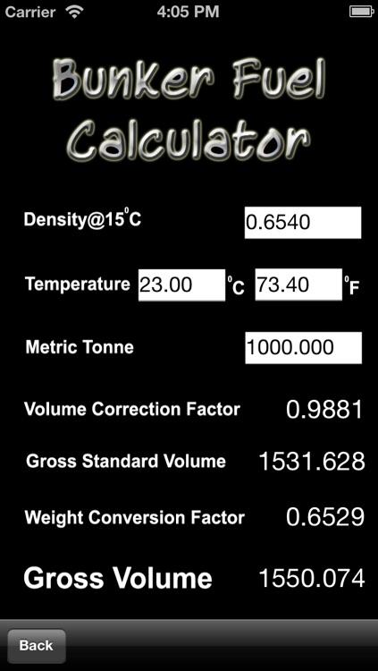 Bunkers Fuel Calculator