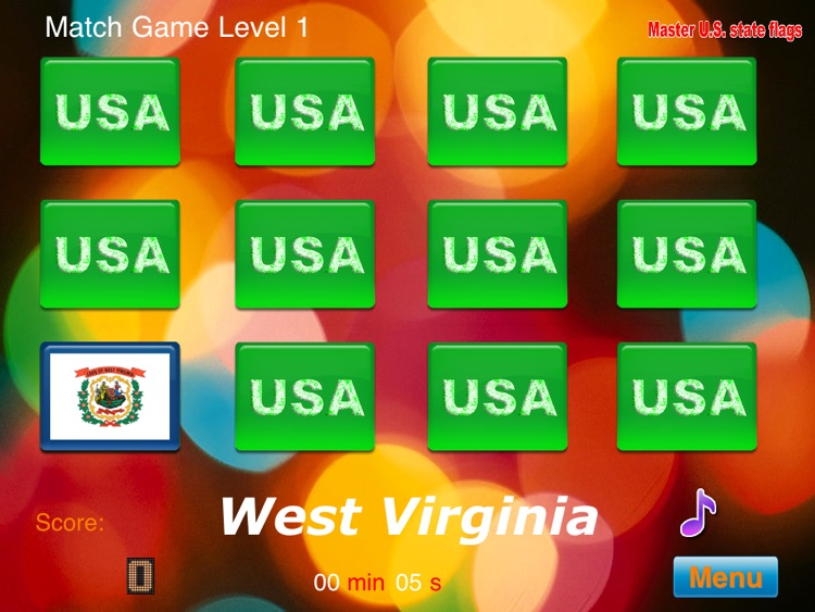 Master USA State Flags HD screenshot-3