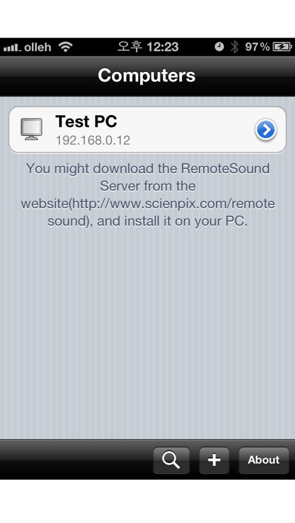 RemoteSound - Using the iOS device as PC Speaker