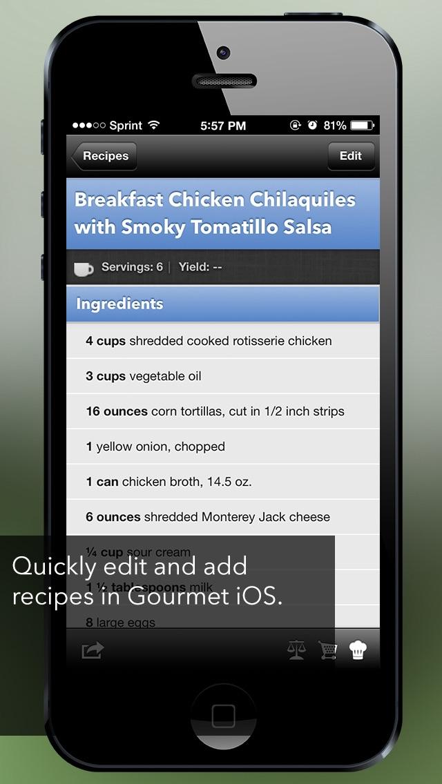 Gourmet Mobile review screenshots