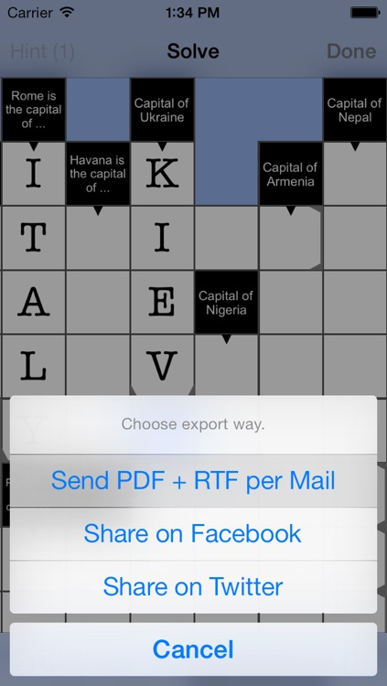 Cruciverber LITE - the crossword generator screenshot-3