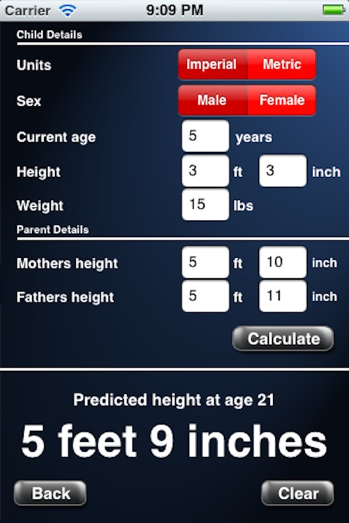 Adult Height Calculator screenshot-3