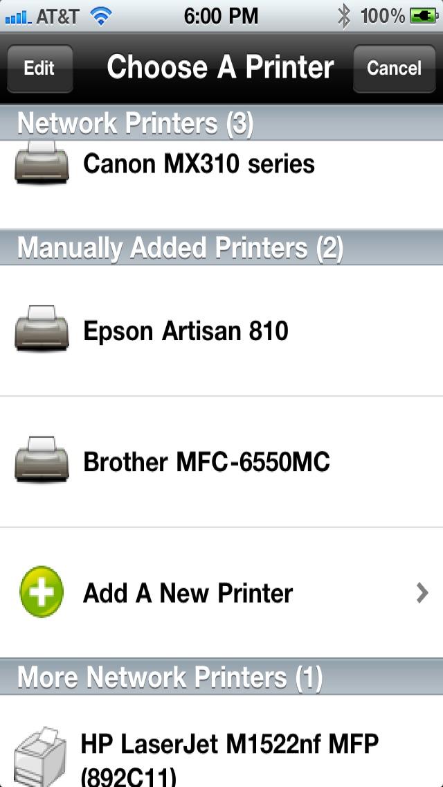 Printing for iPhone Printer Verification Скриншоты3