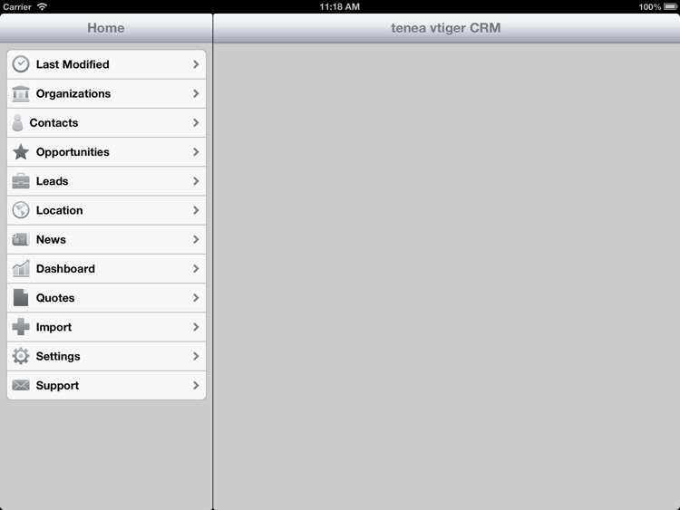 Tenea app for Vtiger CRM (iPad edition) screenshot-4