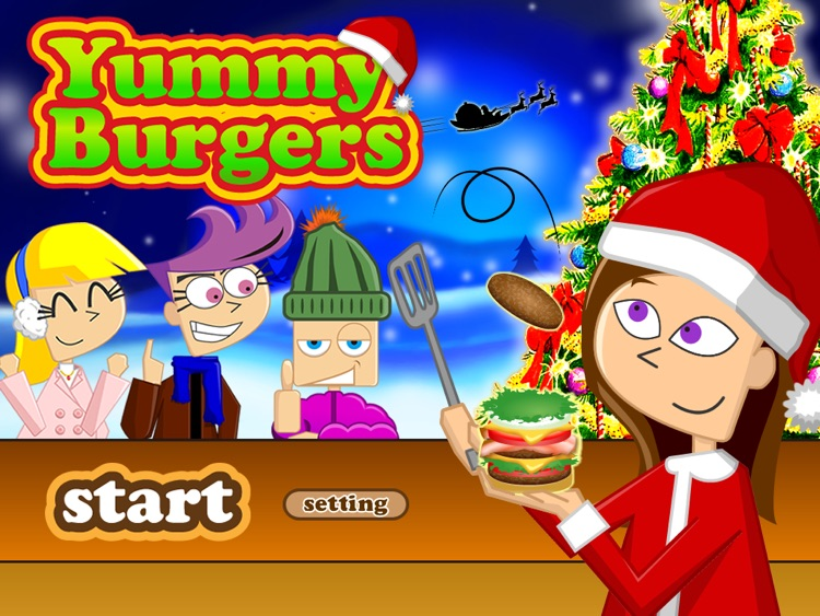 Christmas Yummy Burger Maker Game Free screenshot-4