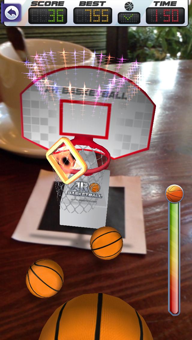 ARBasketball - Augmented Reality Basketball Game Screenshot 3