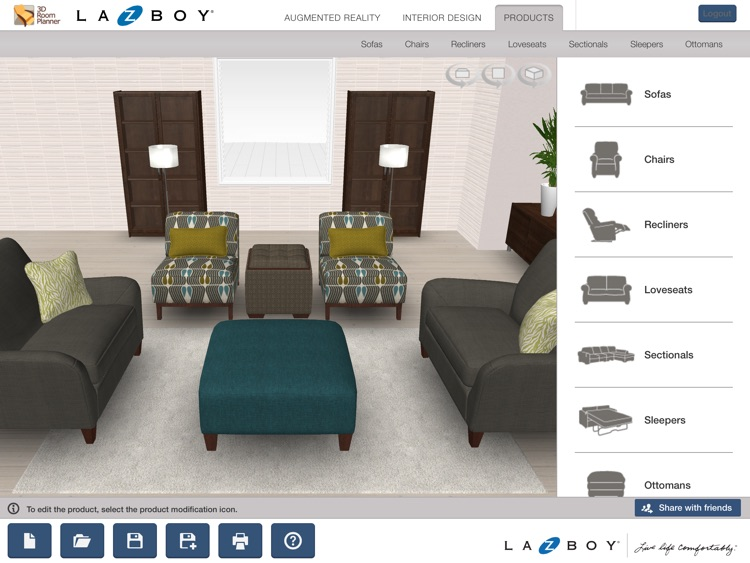 La-Z-Boy 3D Room Planner screenshot-0