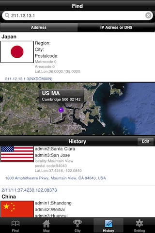 LocationFinder (Address, Ip, DNS) screenshot-4