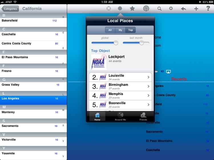 Weather Radio - iPad Edition screenshot-0