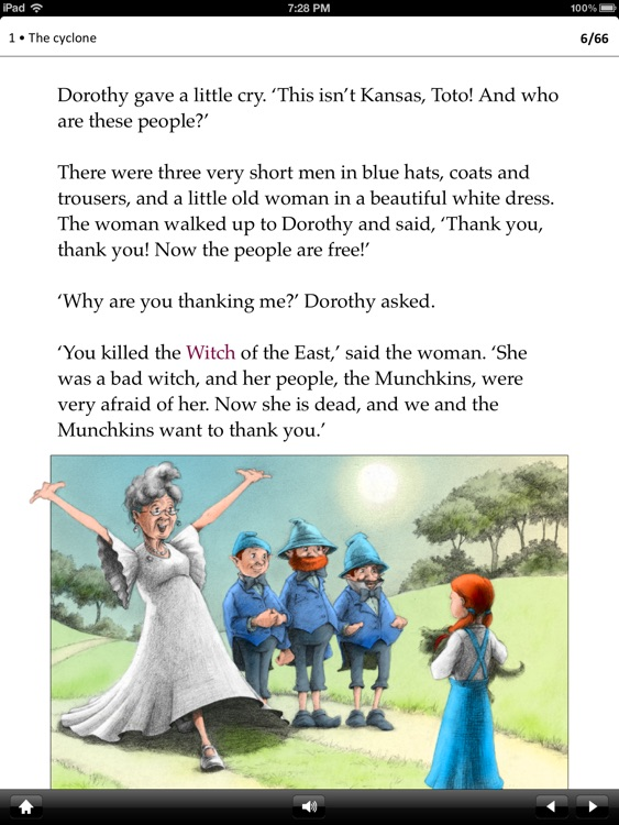 The Wizard of Oz: Oxford Bookworms Stage 1 Reader (for iPad)