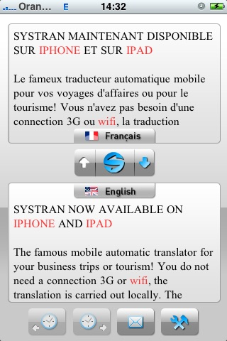 SYSTRAN Mobile Translator English-French screenshot-3