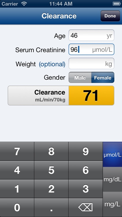 KidneyCalc (Dosage Adjustment Calculator) screenshot-3
