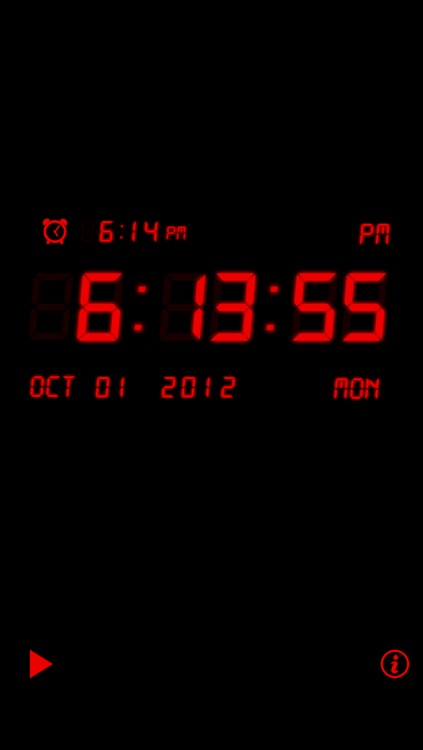 Alarm Night Clock Lite screenshot-1