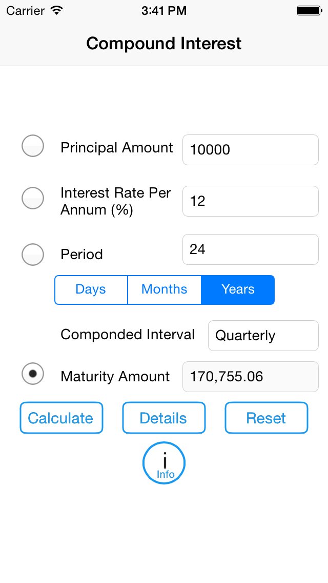 Compound Interest Calculator 2014 screenshot two