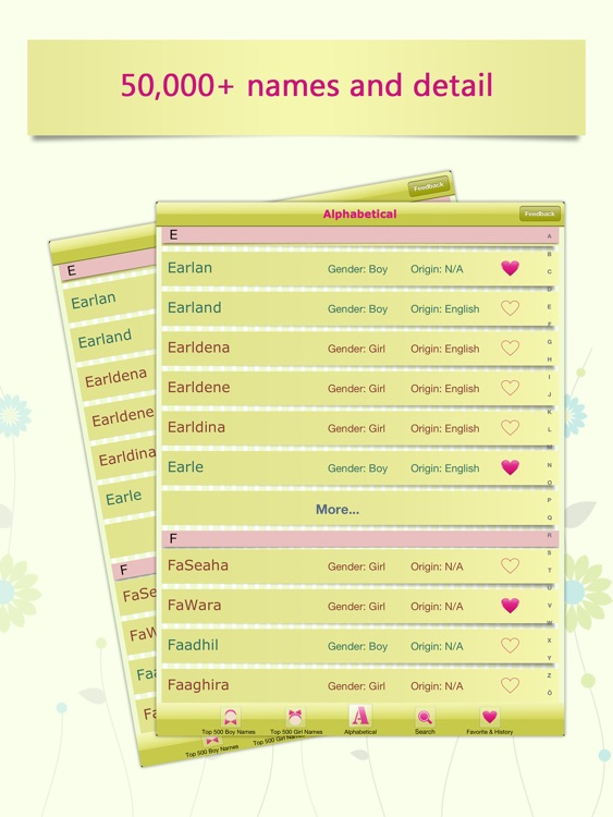Baby Girl Name Assistant for iPad screenshot-4