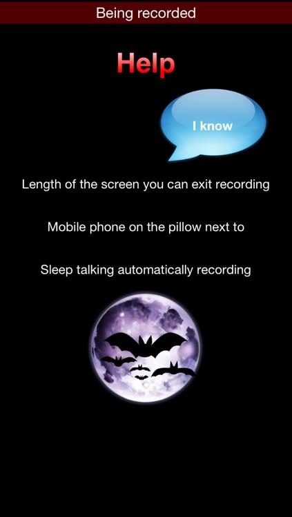 NC Sleep talking - Automatic recording sleep talking and snoring