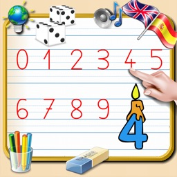 Write Numbers from 0 to 9 - English and Spanish Sounds