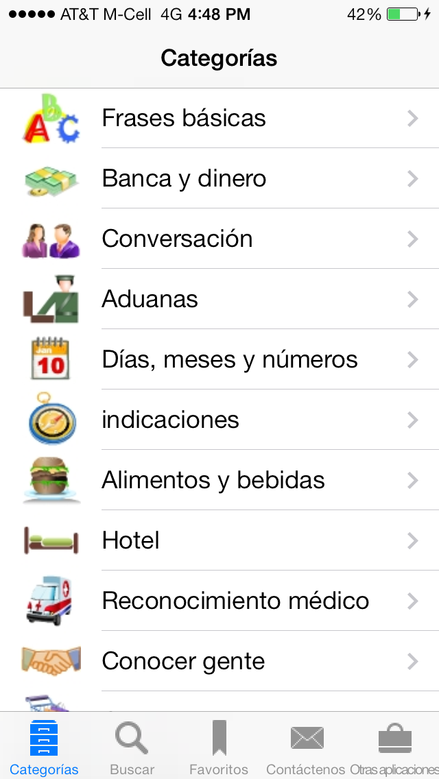 Spanish To English Translation Phrasebook review screenshots