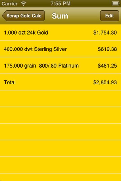 Scrap Gold Calculator screenshot-3