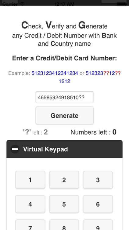 Credit Card Revealer screenshot-3