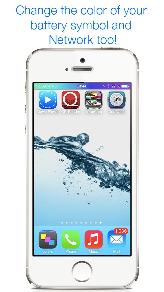 アンリーシュド色 - 壁紙やステータスバーを自由に変更・カスタマイズして画面をクールなデザインに、iOS 7の画面をスパイスアップのおすすめ画像2