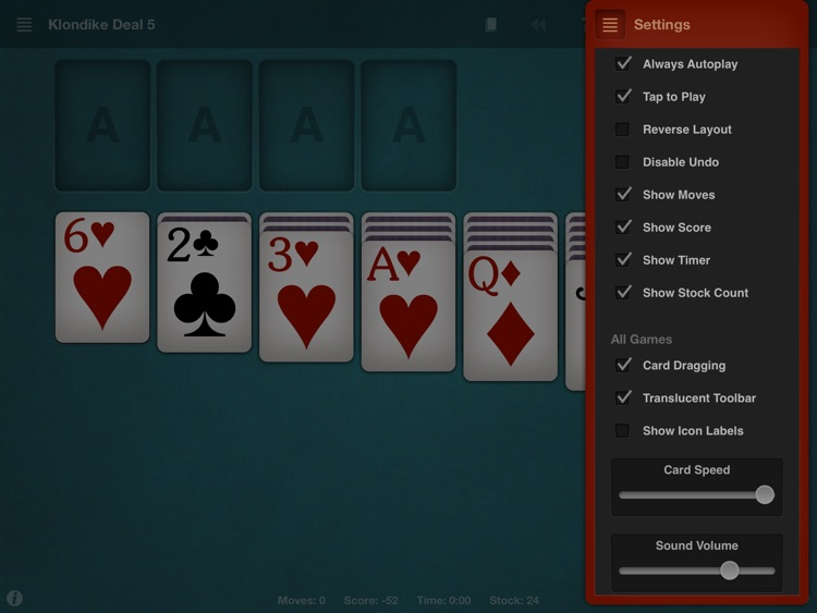 Solitaire HD by Solebon screenshot-4