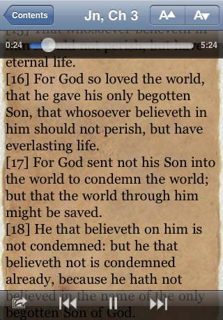 KJV Bible Audiobook Screenshot